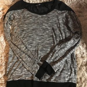 Grey and black long sleeve